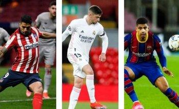 Suárez, Valverde y Araújo en la definición de La Liga