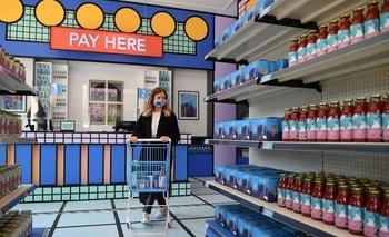 La tienda del Museo del Diseño en Londres abrió sus puertas como un supermercado
