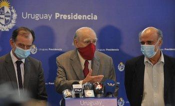 Los referentes del oficialismo dieron una conferencia de prensa al finalizar el encuentro con el presidente