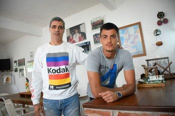 Luis Barbat y Luis Francisco Barbat, padre e hijo goleros de fútbol