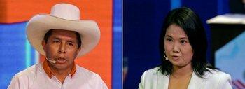 Los candidatos presidenciales Pedro Castillo y Keiko Fujimori