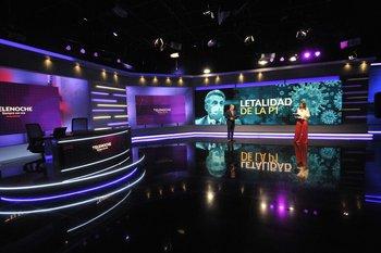 Daniel Castro y Viviana Ruggiero en el lanzamiento del nuevo formato de Telenoche