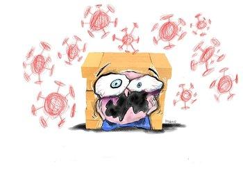 Ilustración sobre el coronavirus