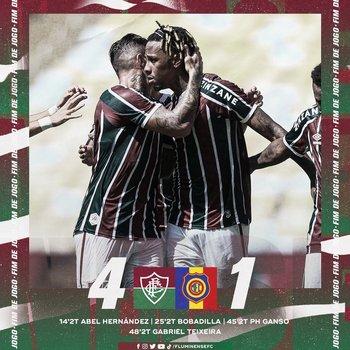 El afiche de Fluminense tras su triunfo