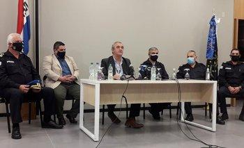 Conferencia de prensa del ministro del Interior, Jorge Larrañaga