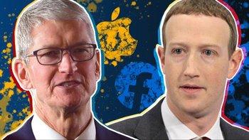 El presidente ejecutivo de Apple, Tim Cook, y el fundador de Facebook, Mark Zuckerberg, están en posturas encontradas por el tema de la privacidad en internet