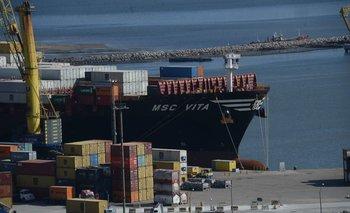 Puerto de Montevideo.