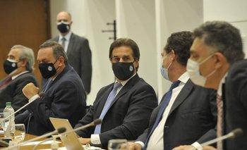 Lacalle Pou durante el Consejo de Ministros