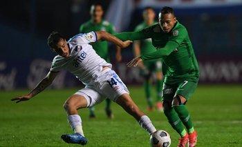 Trasante y Barrera en el partido de ida contra el Atlético Nacional