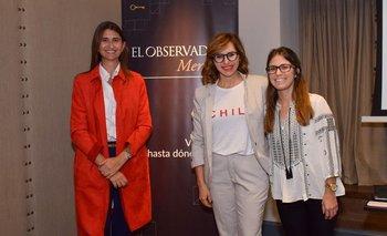 Ana Inés Maranges, Luciana Lasus y Belén Crosa
