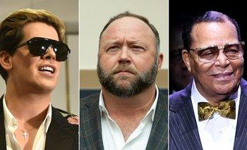 Milo Yiannopoulous, Alex Jones y Louis Farrakhan son algunas de las personas bloqueadas en la red social