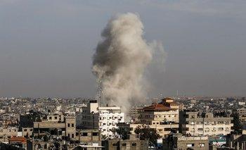 La ciudad palestina de Rafah fue uno de los blancos del fin de semanan