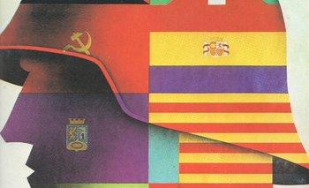 Cartel de propaganda republicana en la guerra civil española (1936-1939), convocando a la unidad de las distintas milicias partidarias