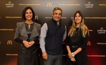 Paula Espasandin, Ricardo Mendez y Luciana Pasos