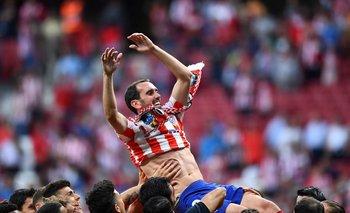 """Diego Godín jugó su último partido como """"colchonero"""" en el Wanda Metropolitano"""