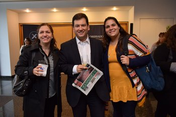 Paula Viurrarena, Diego Fagundez y Berenice Miralles
