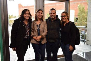 Stephanie Garcia, Gabriela Heilan, Juan Silva y Dahiana Fuentes