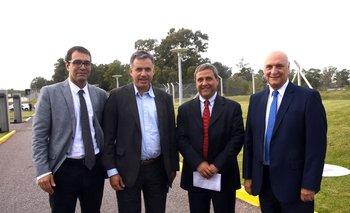 Nicolás Oberti, Yamandú Orsi, Francisco Jaureguy y Aníbal Scavino