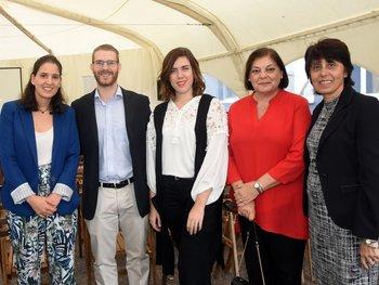 Juliana Álvarez, Joaquín Borderre, Micaela Ziliani, Estela Acosta, Adriana Malnati.