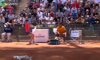 Nick Kyrgios tuvo otro momento de bronca, esta vez en Roma