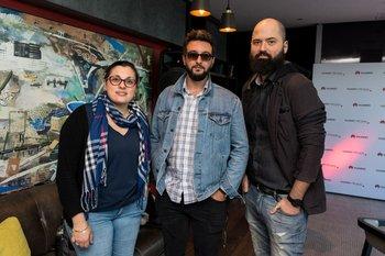 Eliana di Salvatore, Thiago Ramirez y Maximiliano Oddone