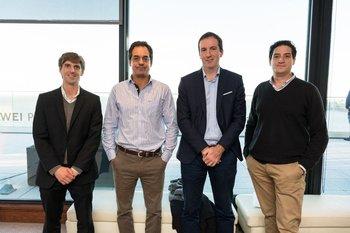 Manuel Mendive, Javier Albiñana, Damian Dalmaso y Sebastian Francolino