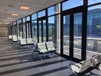 Sala de espera del nuevo hospital