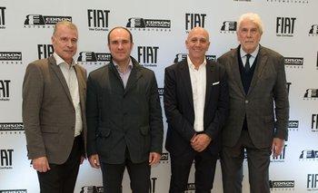 Carlos López,Doménico Cappelli, Edison Fernández y Juan Carlos Gorini