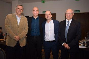 Nicolás Gutierrez, Fernándo Franceschi, Fernándo Martínez y Luis Layerte