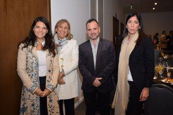 Fernanda Ariceta, Graciela Reybaud, Horacio Urrutia y Silvia Piñeiro