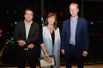 Luciano Aphesteguy, Lercy Saavedra y Pablo Legnani