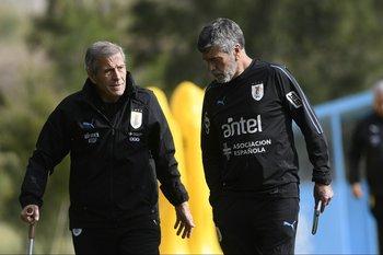 Tabárez y el Profe Herrera