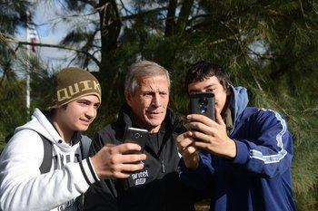 Una selfie con Tabárez