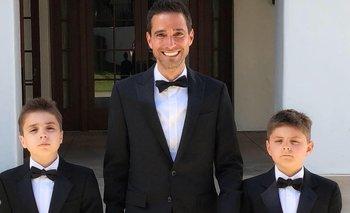 Ian Sohn con sus hijos