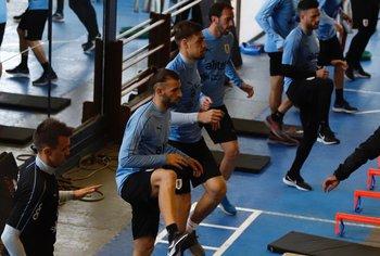 Gastón Silva en el gimnasio del Complejo