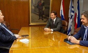 Ribeiro, Labat y Berti (derecha), son los tres directores del BCU.