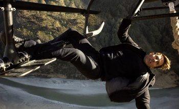 Tom Cruise en una de las películas de Misión Imposible