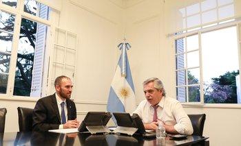 Archivo. El ministro de Economía Martín Guzmán y el presidente Alberto Fernández