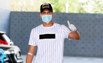 Ronald Araújo en el compeljo de FC Barcelona tras los controles por el coronavirus