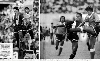 Andrés Silva y Nano Dos Santos en las fotos de Uruguay