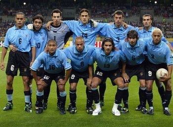El equipo de Uruguay en el Mundial 2002