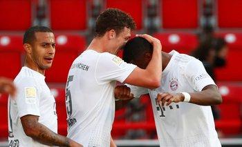 Pavard y Alaba este domingo en el triunfo de Bayern