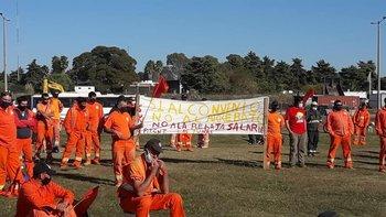 Paro y movilización del sindicato de la construcción el miércoles en Durazno.