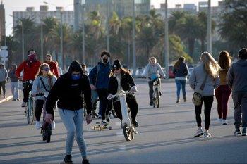 Rambla peatonal en Montevideo. (Foto archivo)