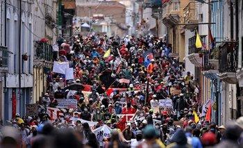Protestas en Quito contra el recorte presupuestario impuesto por el gobierno del presidente Lenin Moreno