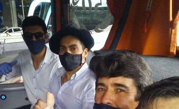 Sebastián Taborda, Nefer Leivas, Carlos Perdomo y Junior Sastre el día que llegaron a Madrid.
