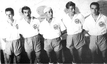Luis Ernesto Castro, Atilio, Porta, Ciocca y Zapirain, la delantera habitual en los 10 clásicos ganados