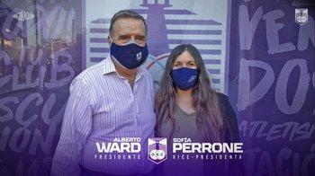 Alberto Ward y Sofía Perrone conducirán a Defensor Sporting hasta 2023