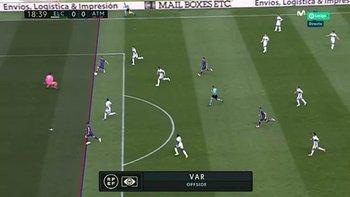 El gol que el VAR le anuló a Luis Suárez para Atlético de Madrid ante Elche