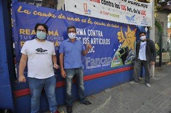 El director de Recursos Financieros de la Intendencia de Montevideo y el presidente del sindicato de ANCAP, Gerardo Rodríguez, ambos dirigentes del Partido Socialista